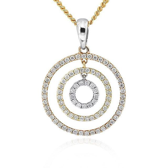Celebrate life and love with the [ORO]3 Circles diamond pendant. Featuring three tones of diamond set, gold circles, shop online today at www.gerardmccabe.com.au