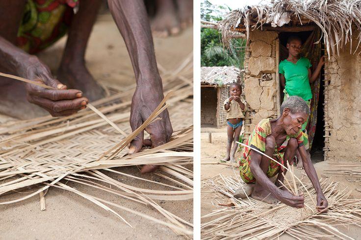 A woman creates a basket out of dried reeds. #Africa #Congo #travel #RepublicofCongo #gorilla #trekking #jungle #WildernessSafaris