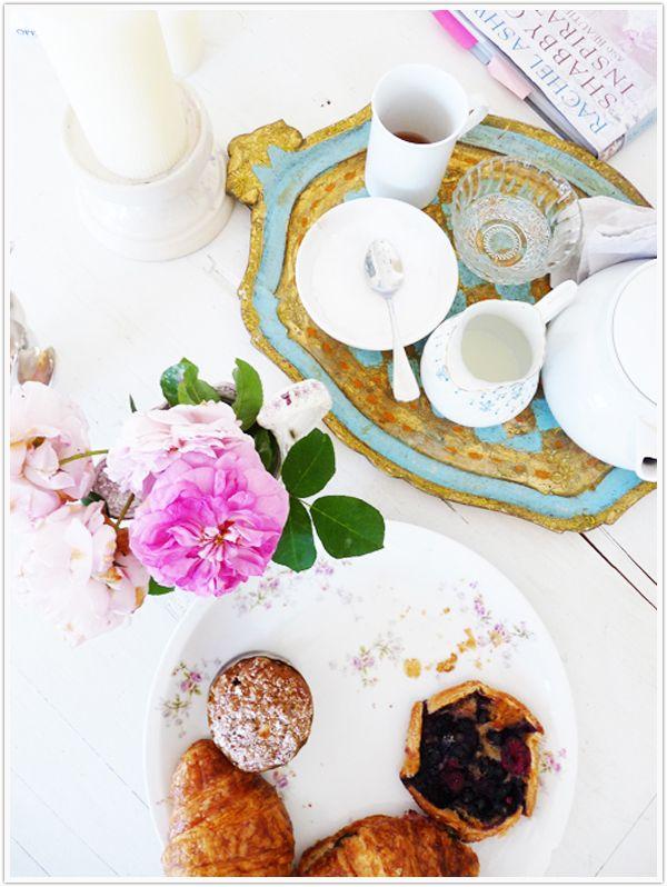 Voila! Breakfast in bed. #luxury #littleluxuries