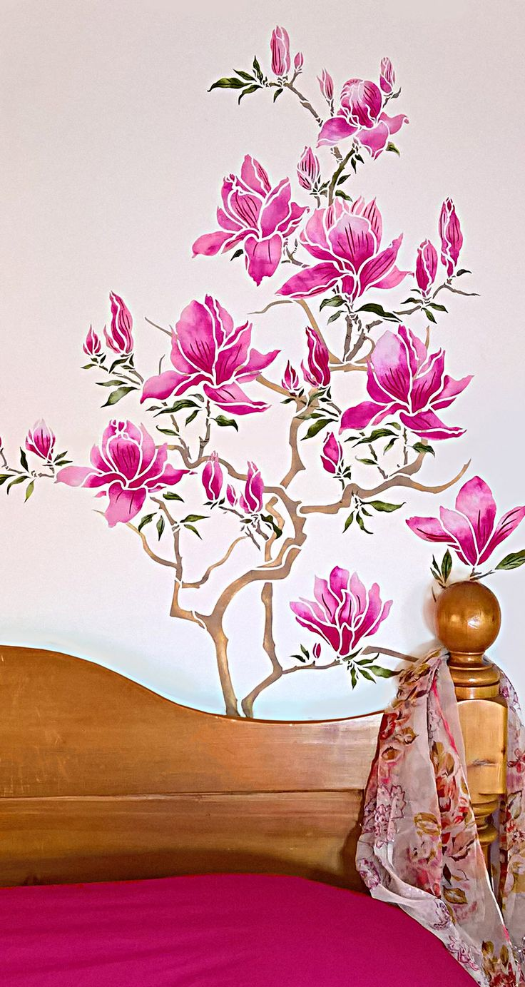 71 best flowering magnolia tree stencil images on pinterest tree beautiful cottage bedroom and the flowering magnolia tree stencil