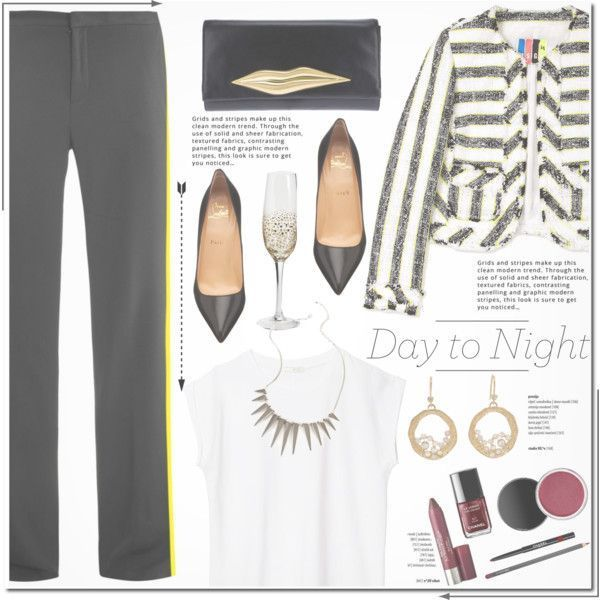 Idée look de journée et soirée tendance 2017   Le look   Description  Passer d'un look de jour à un look de soirée, c'est possible avec de simples ajustements et de l'inspiration ! How To Wear No 272 Day to Night Holiday Party Outfit Idea 2017 – Fashion Trends Ready To...