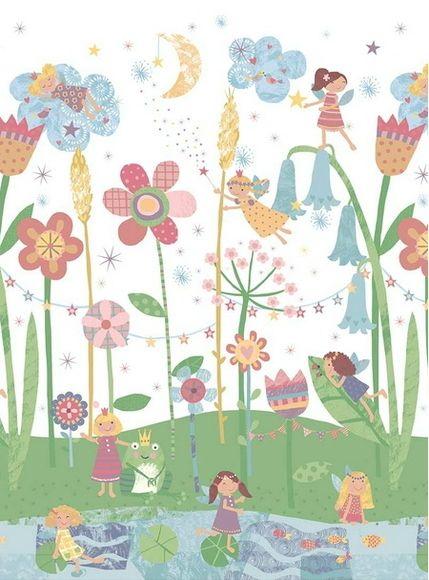 20 migliori immagini carta da parati per camerette su pinterest pigiama party pigiama e fate - Carta adesiva per mobili bambini ...