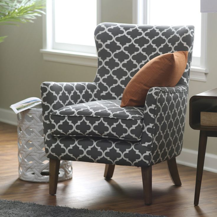 Belham Living Palmer Printed Arm Chair - A sophisticated choice for your tailored living space, this Belham Living Palmer Printed Arm Chair is an updated take on the classic wingback chair. T...