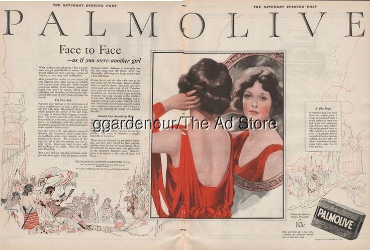 1923 Palmolive Bath Soap EGYPT Queen Vintage BAUMGARTNER Egyptian Art Ad