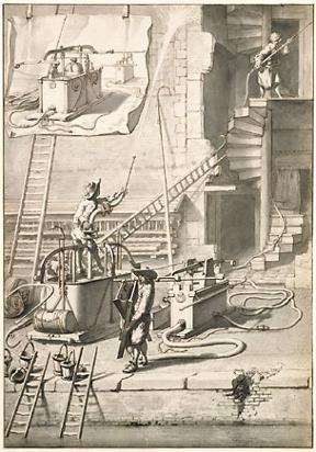 Hoofdstuk 1. De ontwikkeling van de brandspuit in de zeventiende en achttiende eeuw.