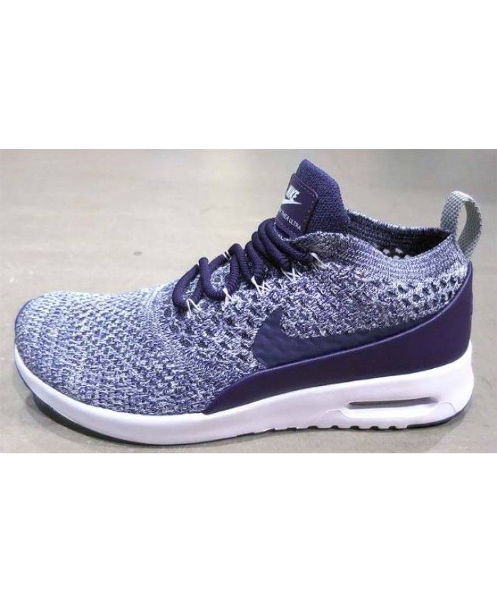 532257b6bf699 Nike Air Max Thea Ultra Flyknit Dark Raisin White Pale Grey Women s Shoes