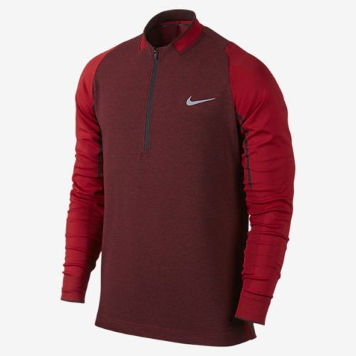 Nike Golf Engineered 1/2 Zip Top Therma Fit LS Shirt Mens M Team Red 746072 657 #NikeGolf #ShirtsTops