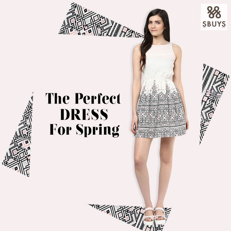 "Perfect Dress for Spring!! "" Printed Strappy Waisted Dress for spring, love they silhouette and the colors."" Shop Now @ http://www.sbuys.in  #sbuys #waisteddress #printedstrappydress #womenswear #latesttrends #springdresses"