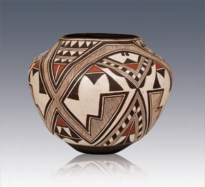 zuni indian miniture pottery | Zuni Pueblo Polychrome Olla - Southwest Indian Pottery - Zuni ...