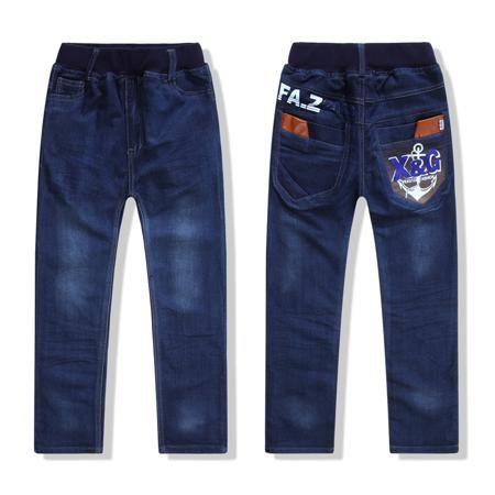 Осенние акции в корейской версии мальчиков джинсы брюки повседневные брюки для детей Дети Детская одежда 140-160  — 853.79р.