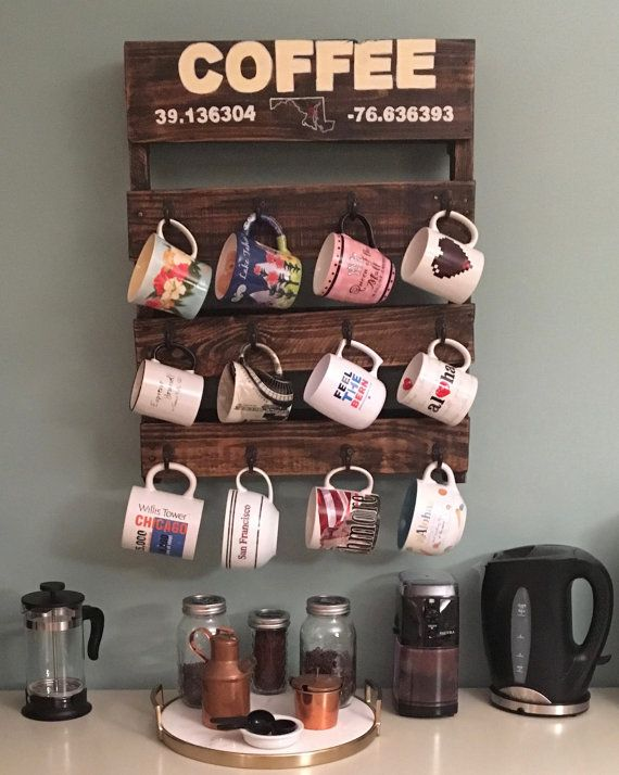 Coffe Mug Rack by MBCreations21 on Etsy