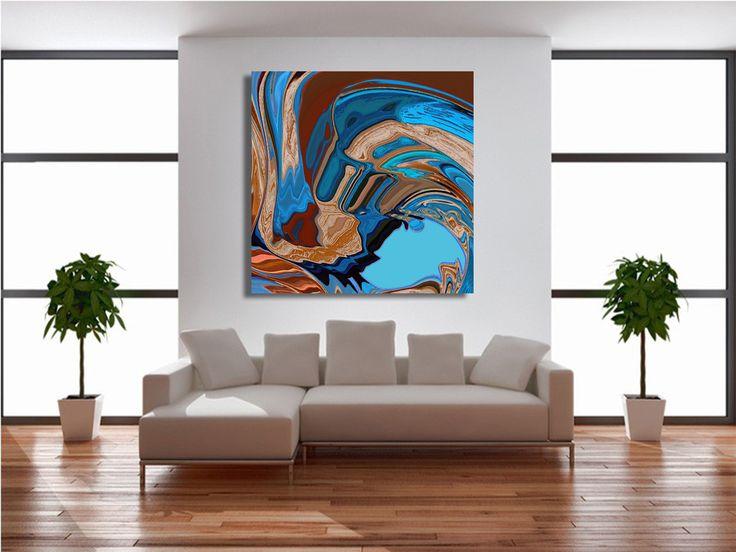 Contemporary Art, abstract Art, digital Art, printed on canvas