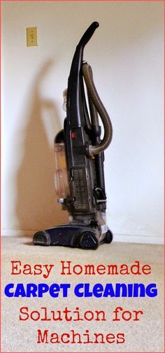 Awesome Real Food Recipes: Easy Homemade Carpet Cleaning Solution for Machines