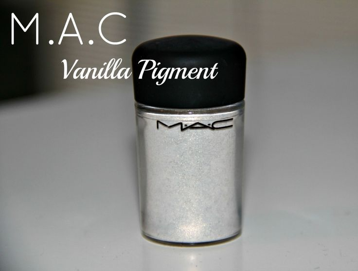 mac vanilla pigment. used as a highlighter at the browbone, at the inner corner of the eye and at the cheek bones too