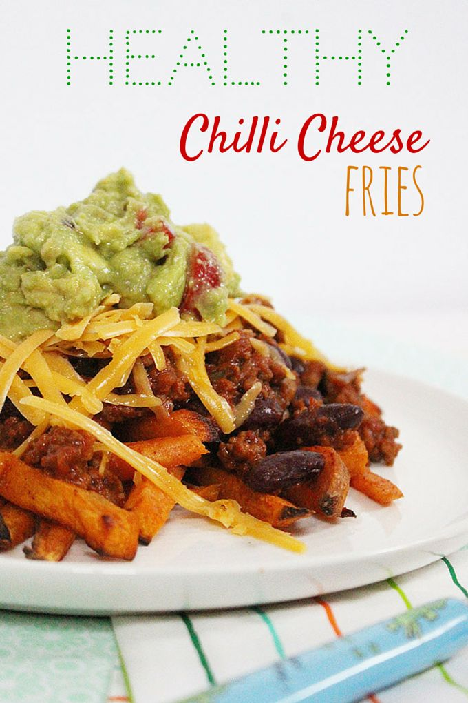 I love chilli cheese fries but don't love how unhealthy they are. This healthy version is even MORE delicious and guilt free.