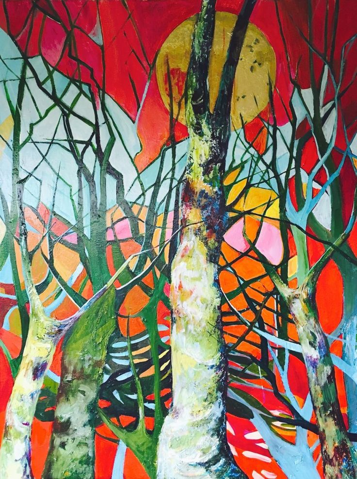 Singing trees (2016) Acrylic painting by Julia Hacker | Artfinder