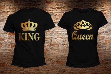PLAYERA KING QUEEN ORO. Realiza tu pedido en: https://www.facebook.com/shopkevs/ - www.kevshop.com.mx