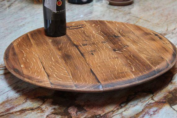 Wine Barrel Lazy Susan by PickYourSeat on Etsy, $75.00