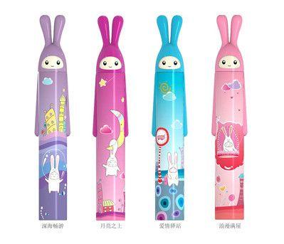 Мультфильм кролик вс - вс-затенение анти-уф-зонтик розовый синий цвет складной ультра - зонтик для девочек мальчиков по уходу за детьми дети