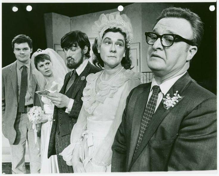 Production still, including Fred Willard, Carole Shelley, Paul Benedict, Elizabeth Wilson and Vincent Gardenia