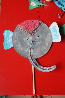 India crafts: Paper plate elephant. Pinned by The Jenny Evolution.
