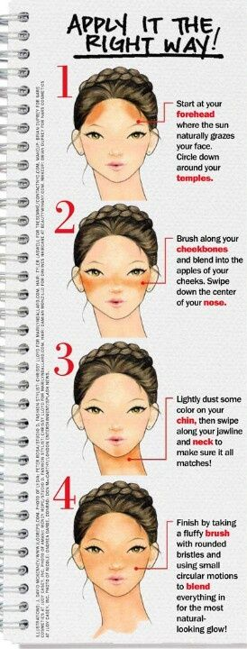 How to apply bronzer the right way.