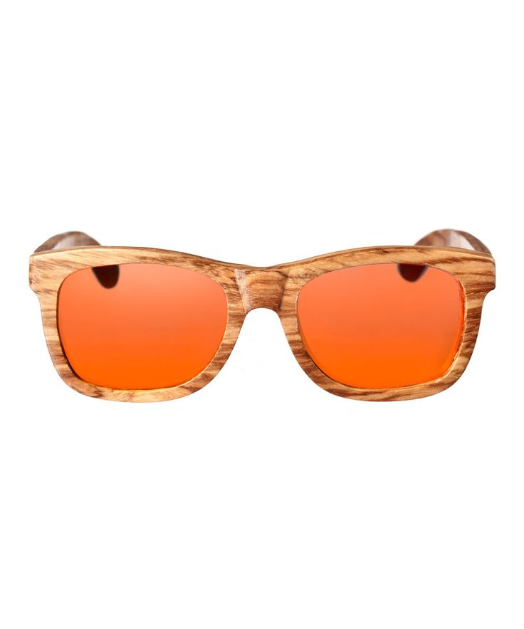 Love this Natural Zebra Panama Wood Sunglasses by EARTH wood watches on #zulily! #zulilyfinds