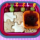 Puzzle bento box lunch - Gallery of Ideas: Lunch Ideas, Puzzles, Schools Lunches, Lunches Boxes, Lunches Ideas, Box Lunches, Bento Box Lunch, Bento Boxes Lunches, Kid
