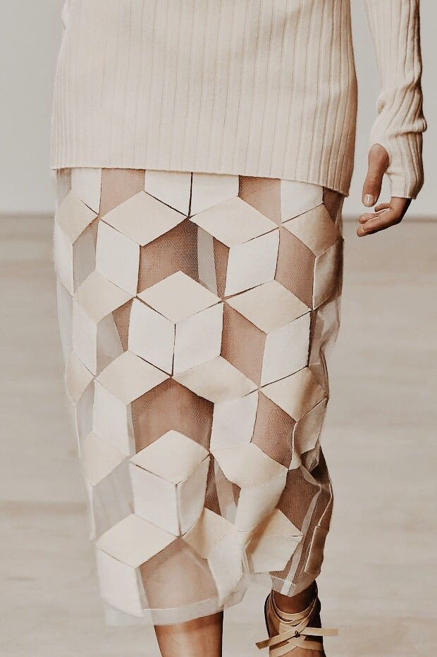 geometric pattern skirt.