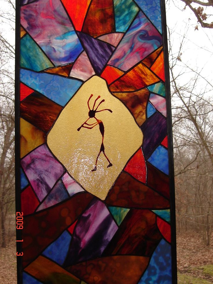 "Original Southwestern Stained Glass Art! ""Kokopelli"""