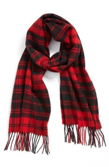 Prep up your cold-weather look with this large square scarf patterned in classic plaid/tartan checks and finished in soft fringes. It can be used as a scarf, shawl, or wrap in any occasions to suit yo.