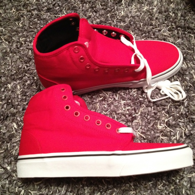 Buy red and black high top vans c21bf02ec