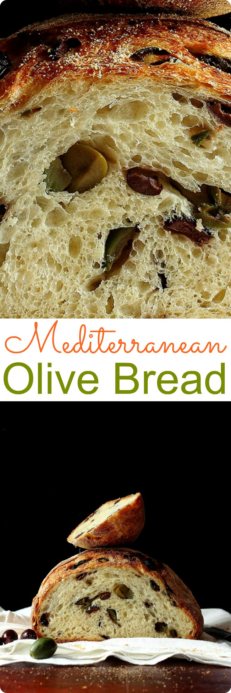 Mediterranean Olive Bread | Filled with brine-soaked Mediterranean olives, this crusty bread will be the star at the dinner table. Find recipe at redstaryeast.com.