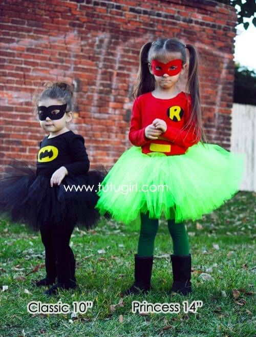 Batman Tutu Costume for Girls | Skirt, Top and Mask