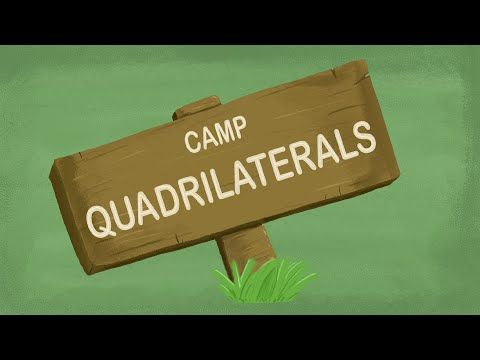"QUADRILATERALS SONG: ""Camp Quadrilaterals"" ★ Great Math Center Activity ★ Save 70% by buying our full library of lesson materials and animated videos: https://www.teacherspayteachers.com/Product/Math-Worksheets-2200780 <-- Link Works"