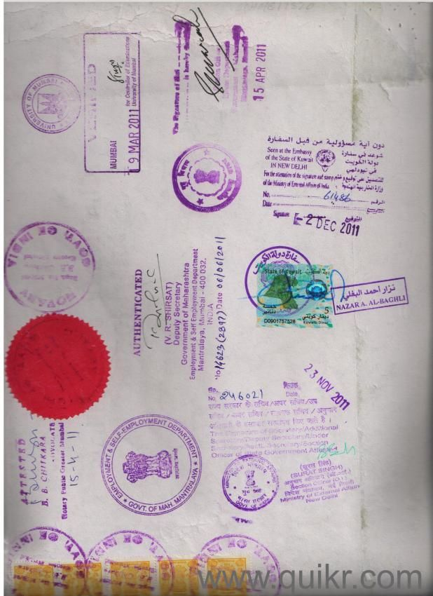 We provide service for attestation/authentication and legalization of all kinds of Educational certificate, Marriage certificates, Birth certificates and affidavits etc. www.attestationcertificate.com/