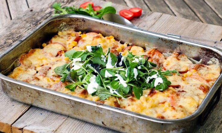 Sunn tacograteng á la Linda Stuhaug er en kjempegod hverdagsmiddag som lager seg selv i ovnen mens du gjør helt andre ting. Taco har aldri smakt bedre!