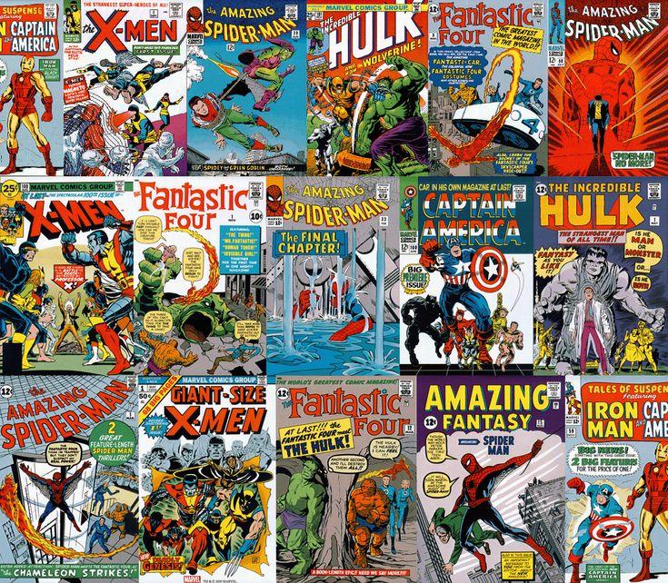 Free Comic Book Day Wallpaper: CLASSIC MARVEL COMIC BOOK COVERS WALLPAPER BORDER