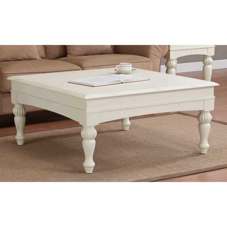 White Coffee Table Square - The Coffee Table
