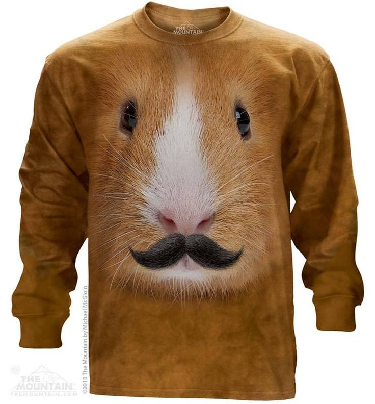 Guinea Pig Mustache Long Sleeve T-Shirt - 30% DISCOUNT ON ALL ITEMS - USE CODE: CYBER  #Cybermonday #cyber #discount