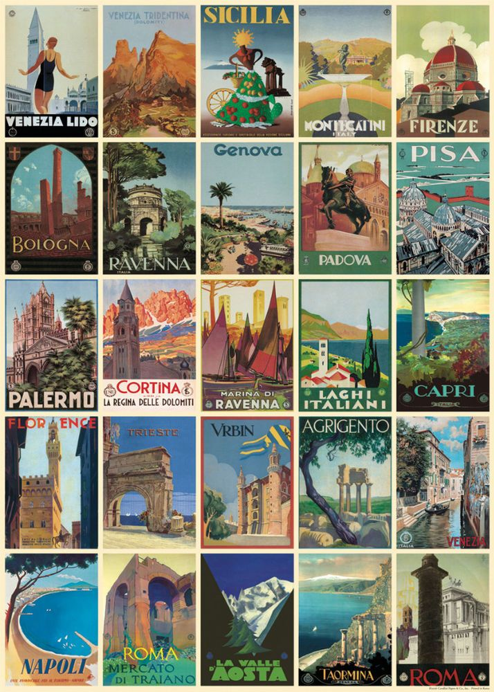 Cavallini Italian Postcards Flat Wrap in Home, Furniture & DIY, Celebrations & Occasions, Gift Wrapping & Supplies | eBay