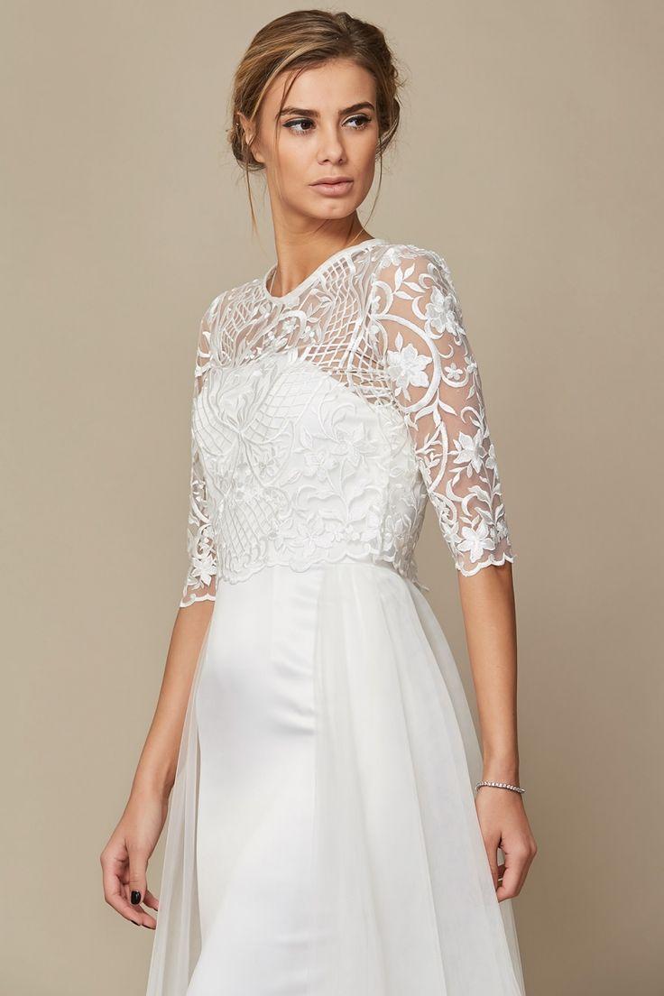 Rochie Laurel + Top Kenna Oana Nutu Fashion Designer Wedding Dress Wedding Gown www.OanaNutu.com #fashion #style #shopping #oananutu #Bridal #BridalDress #WeddingDress #Bride #FashionDesigner #Wedding