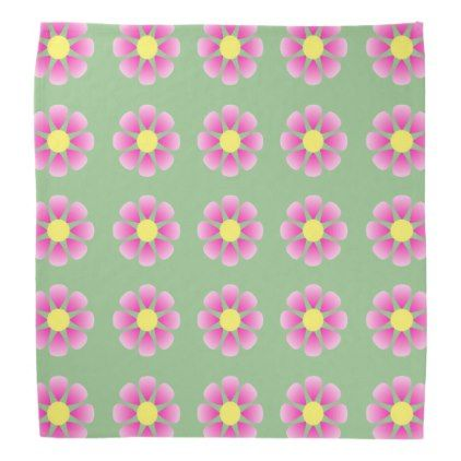 Pink daisy pattern bandana - spring gifts beautiful diy spring time new year