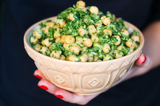 Salata de naut cu verdeturi