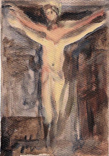 090610 acrylic Meditation on the Holy Cross by John Warren Oakes Coll : Karin Egloff