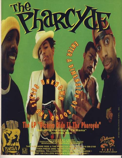 Advertisement for The Pharcyde's 'Bizarre Ride II The Pharcyde'. #music #hiphop #culture