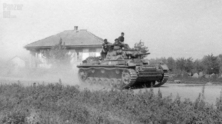 A Panzer 3 on the march!