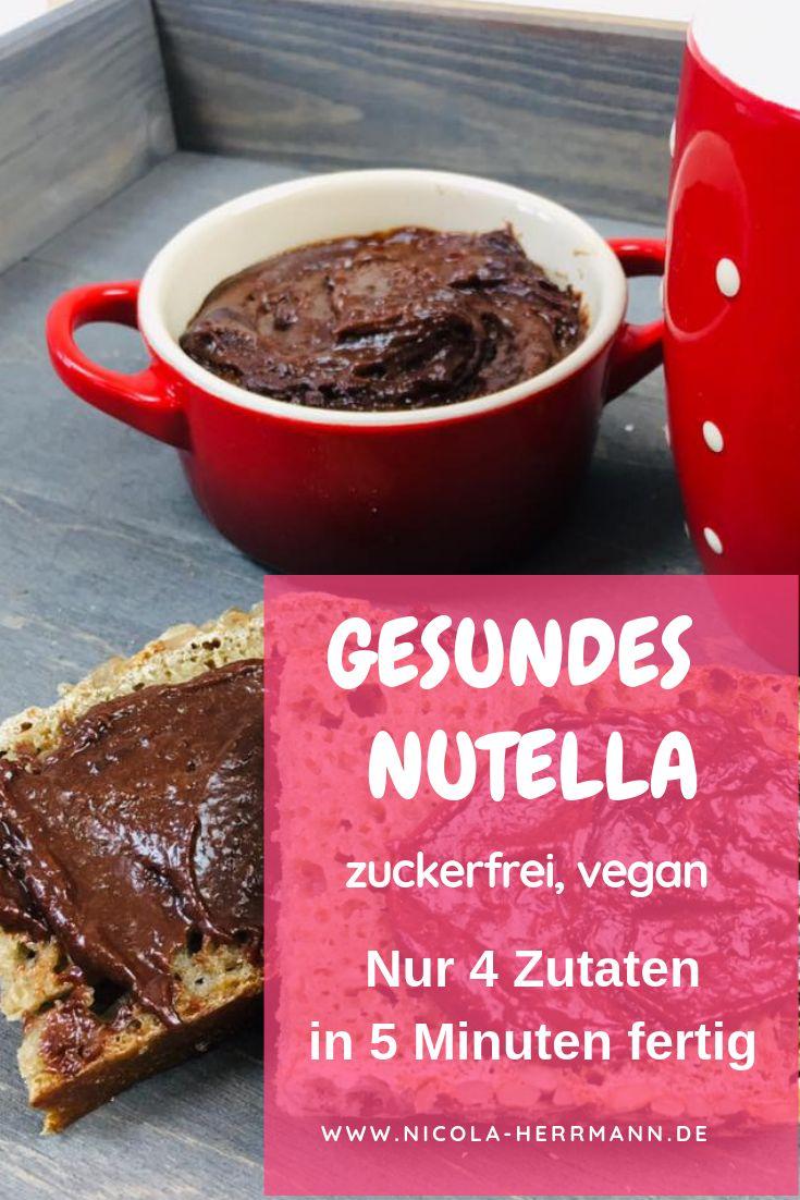 Gesunde Nutella ohne Zucker nur mit Datteln gesüßt, hausgemacht. Der Hit für …   – Zuckerfrei-Challenge