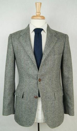 Amazing Vintage Gant Herringbone Tweed Wool Country Trad Blazer Jacket Slim 36 S   eBay