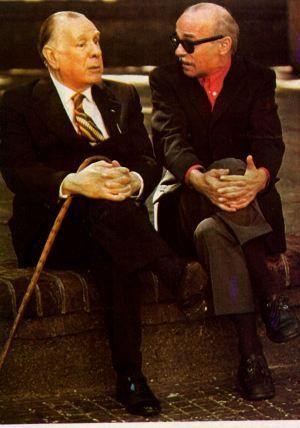 Jorge Francisco Isidoro Luis Borges (Buenos Aires, 24 de agosto de 1899 – Ginebra, 14 de junio de 1986) y Ernesto Sabato (Rojas, Provincia de Buenos Aires, 24 de junio de 1911 - Santos Lugares, ídem, 30 de abril de 20113 ) fue un importante escritor, ensayista, físico y pintor argentino.